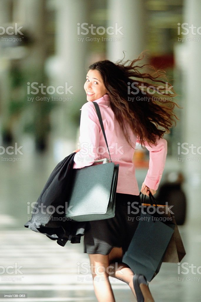 Running to catch a flight foto royalty-free