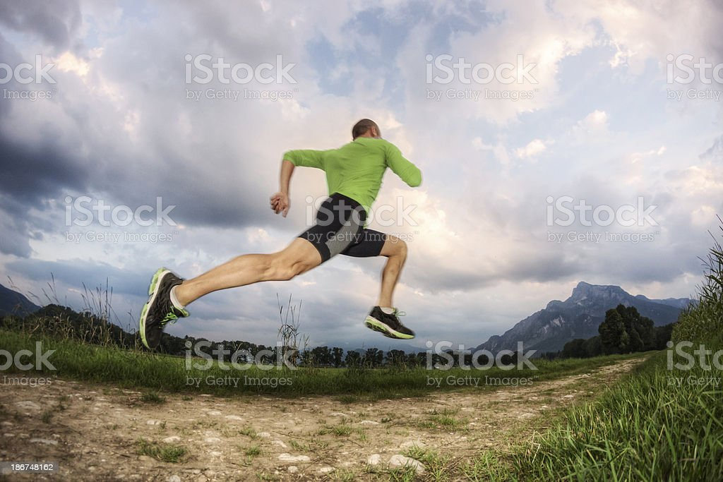 Running to the Mountains royalty-free stock photo