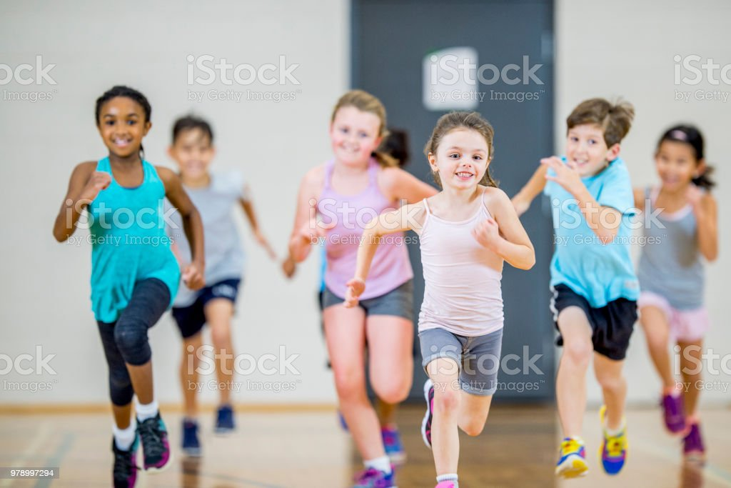 Running Together stock photo