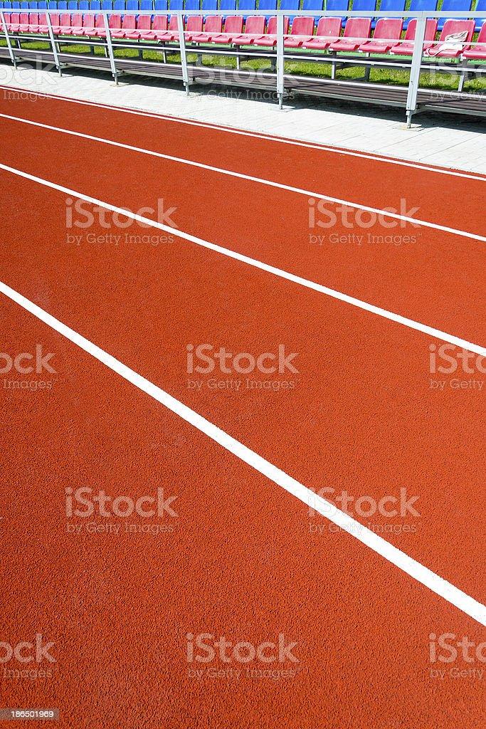 Running track at the stadium royalty-free stock photo