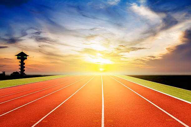 Running track Hintergrund – Foto