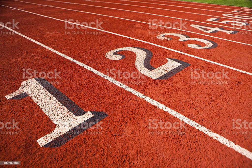 Running track before competition royalty-free stock photo