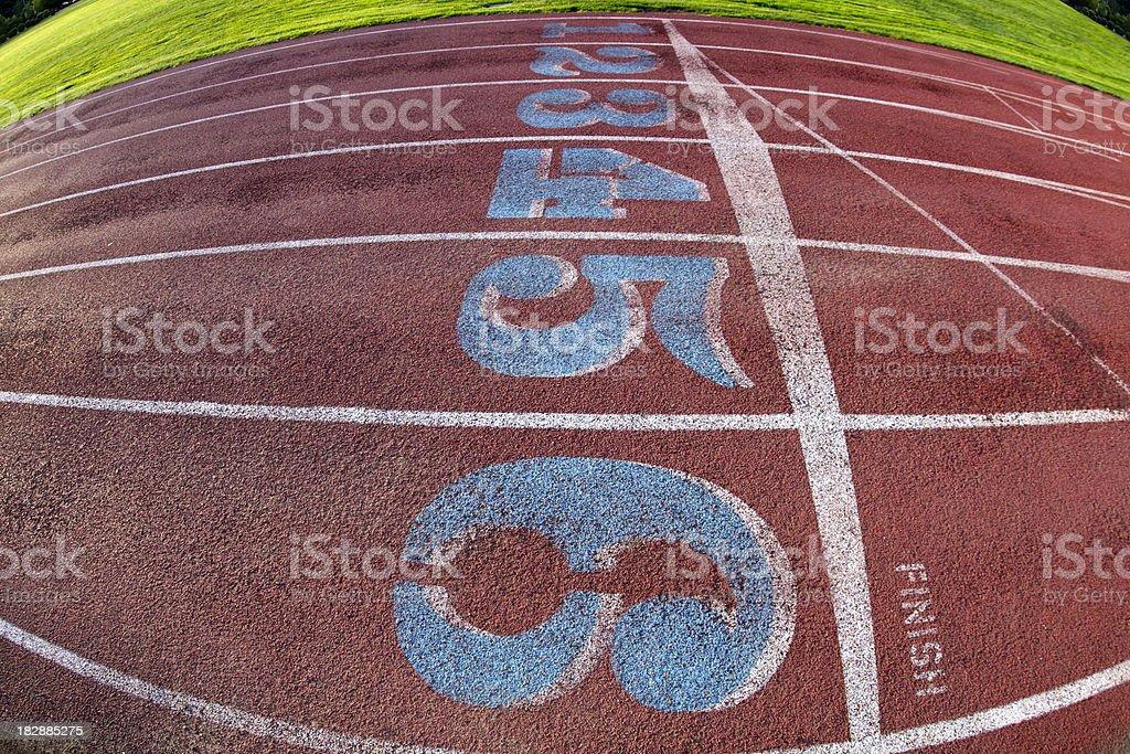 Running Track: Finish Line I stock photo