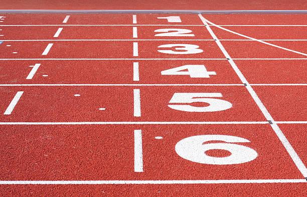 Running Track Finish bildbanksfoto