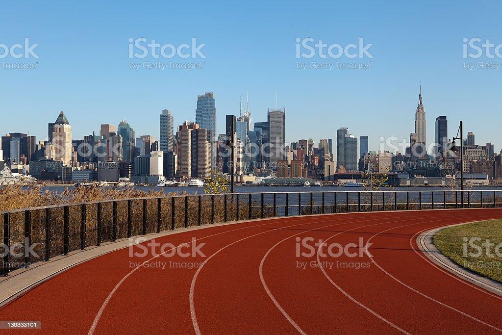 Running Track in New York. stock photo