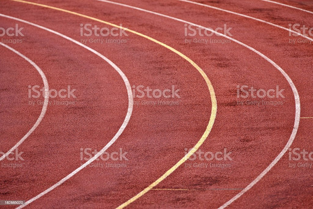 Running Track Lanes: Curve stock photo