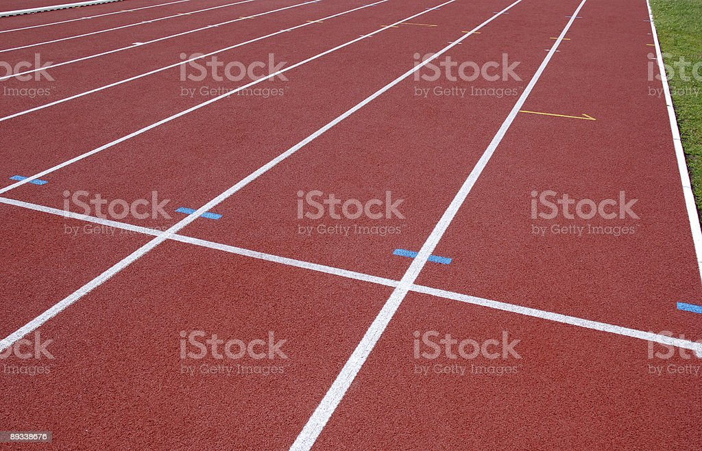 running track lines royalty-free stock photo