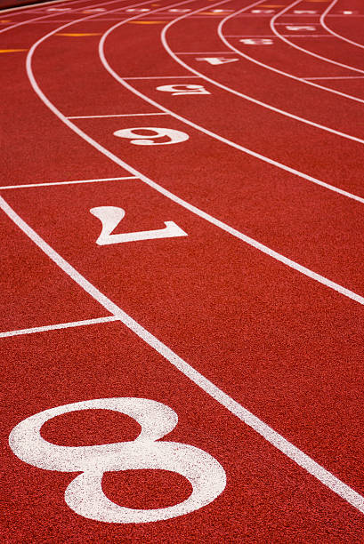 Running Track Outdoors stock photo