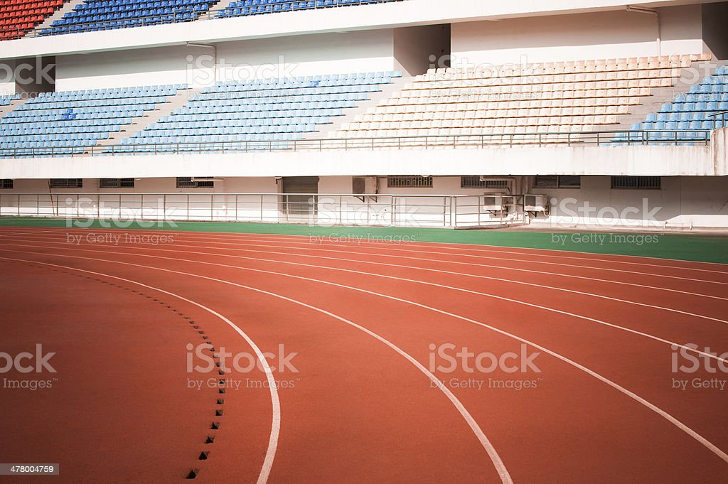 Running Track royalty-free stock photo