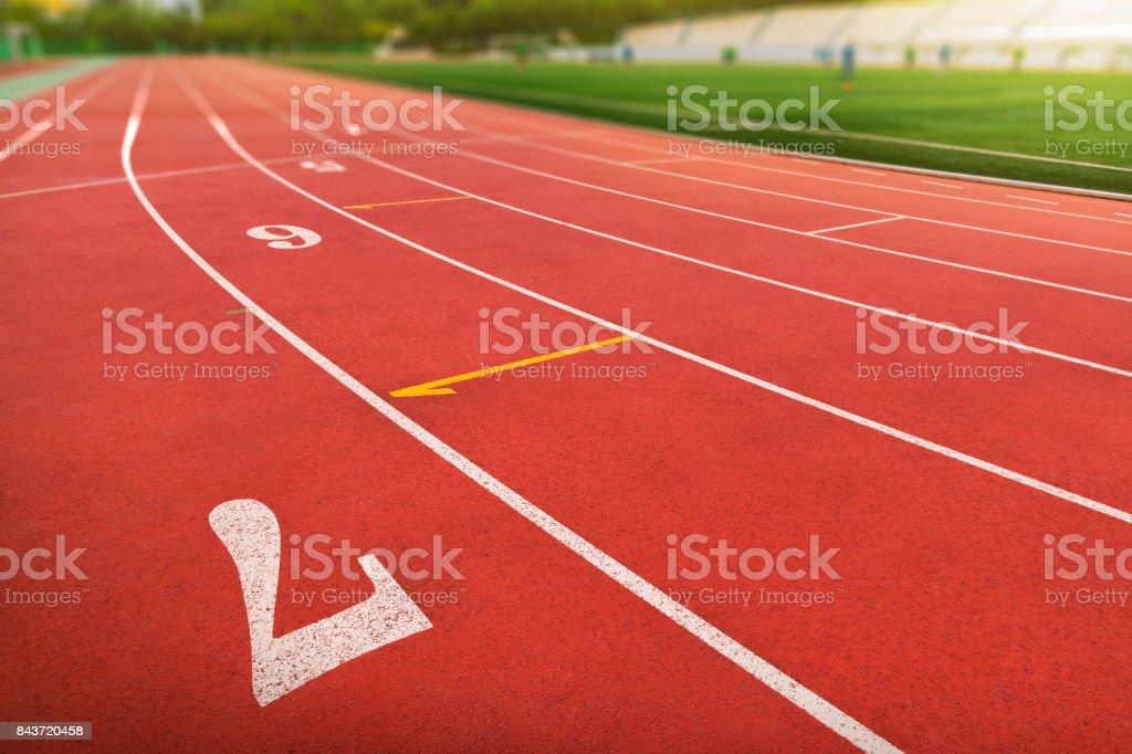 Pista de atletismo - foto de stock