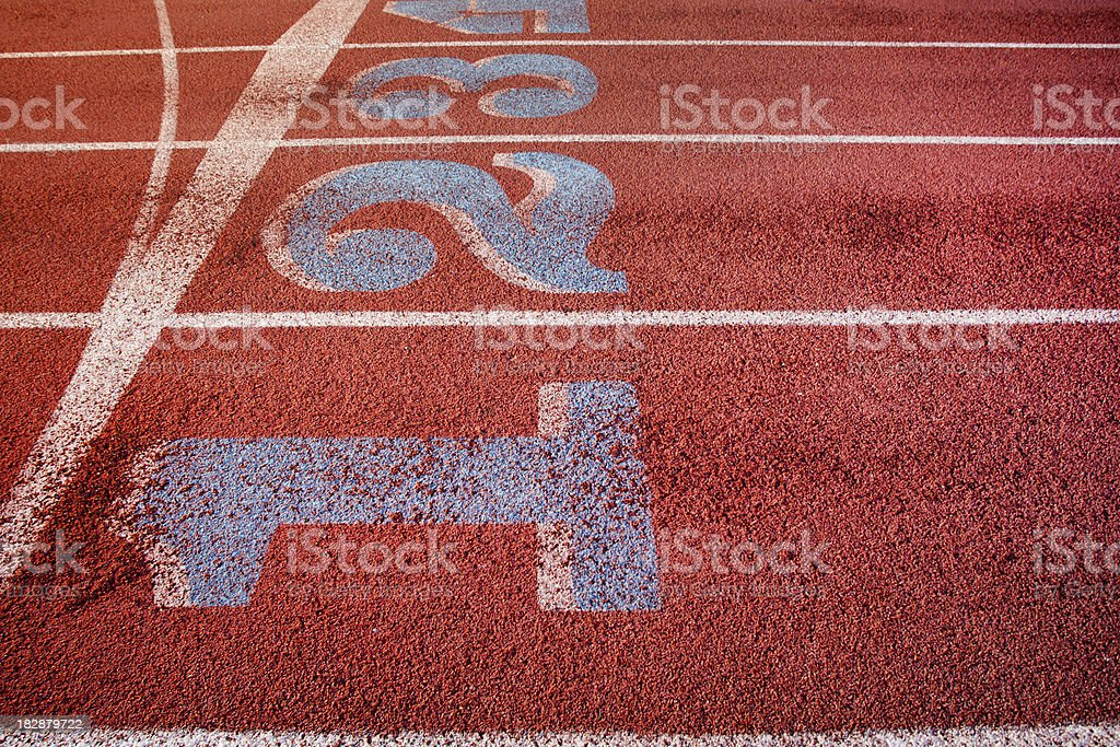 Running Track: Start Line II royalty-free stock photo