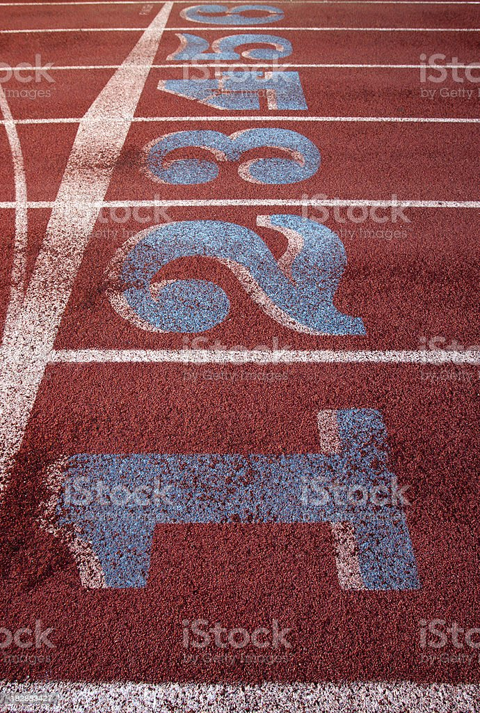 Running Track: Start Line III royalty-free stock photo