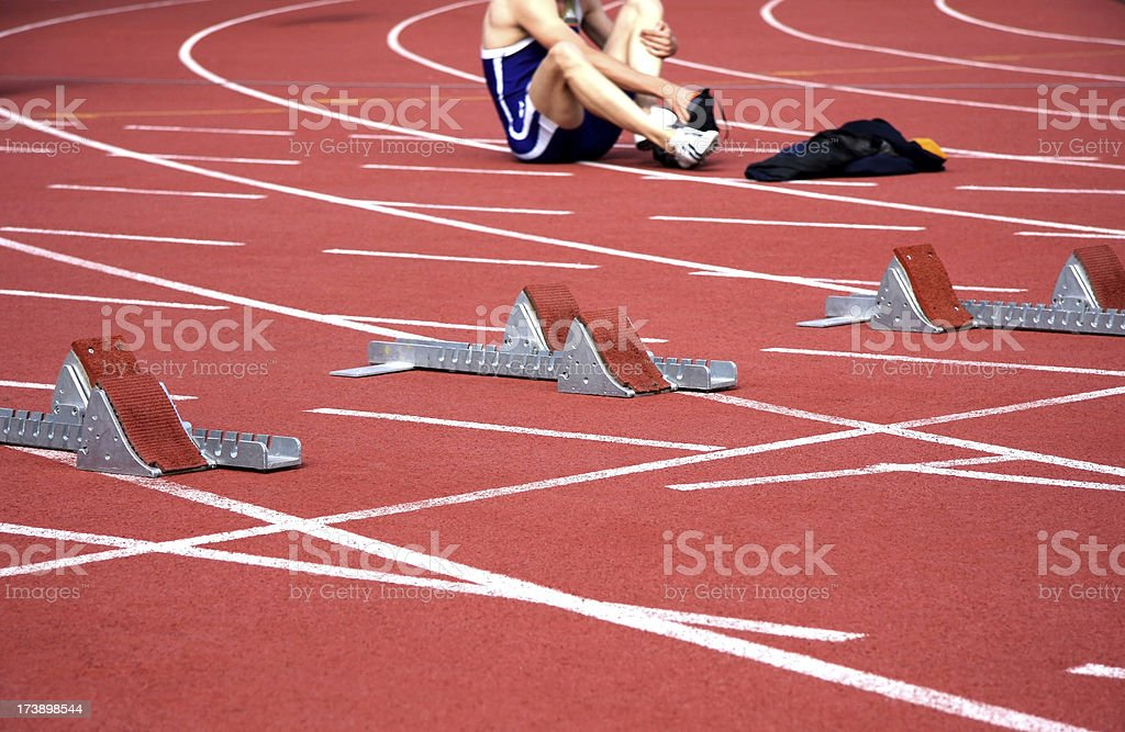 running track starting lines royalty-free stock photo