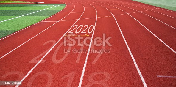 1150191246 istock photo Running track with Number 2018, 2019, 2020 1150191353