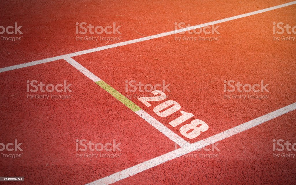 Running track with vintage style. stock photo