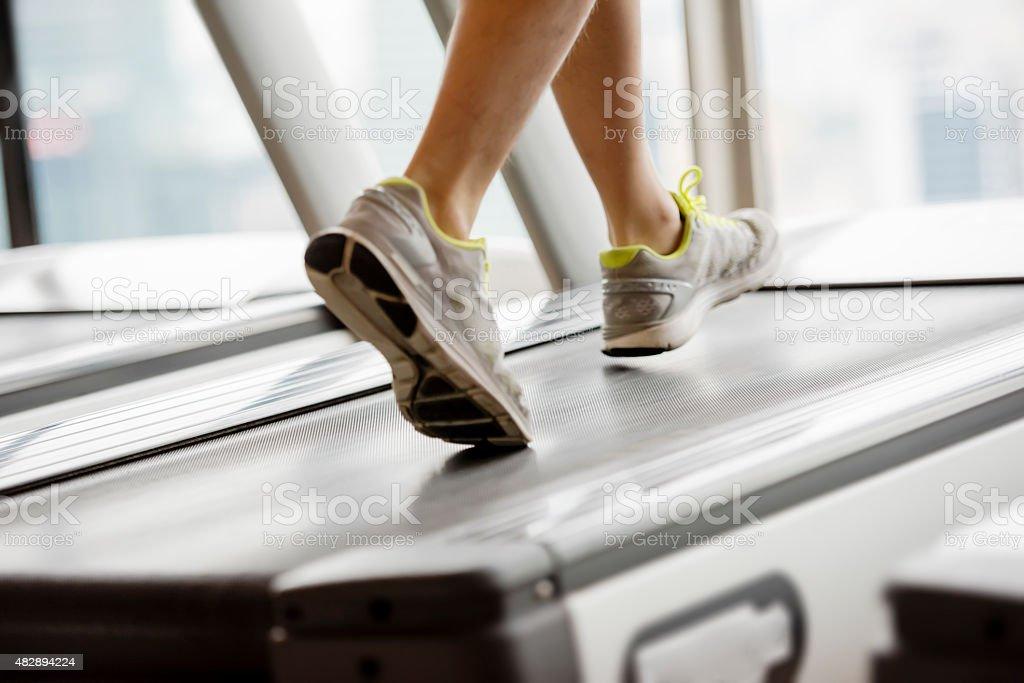 Running treadmill stock photo