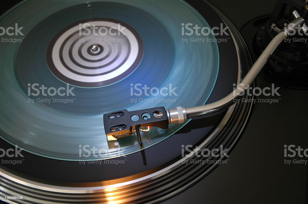 running turntable royalty-free stock photo