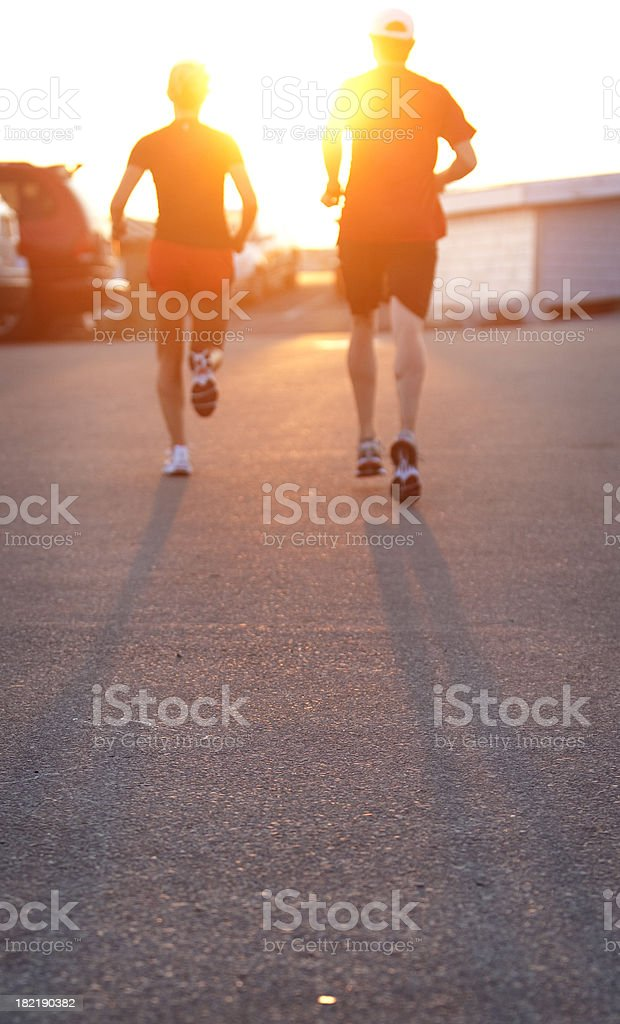 Running Up the Hill royalty-free stock photo