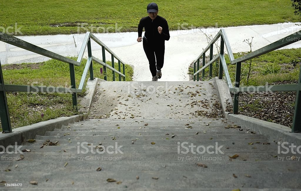 Running up the stairs. royalty-free stock photo