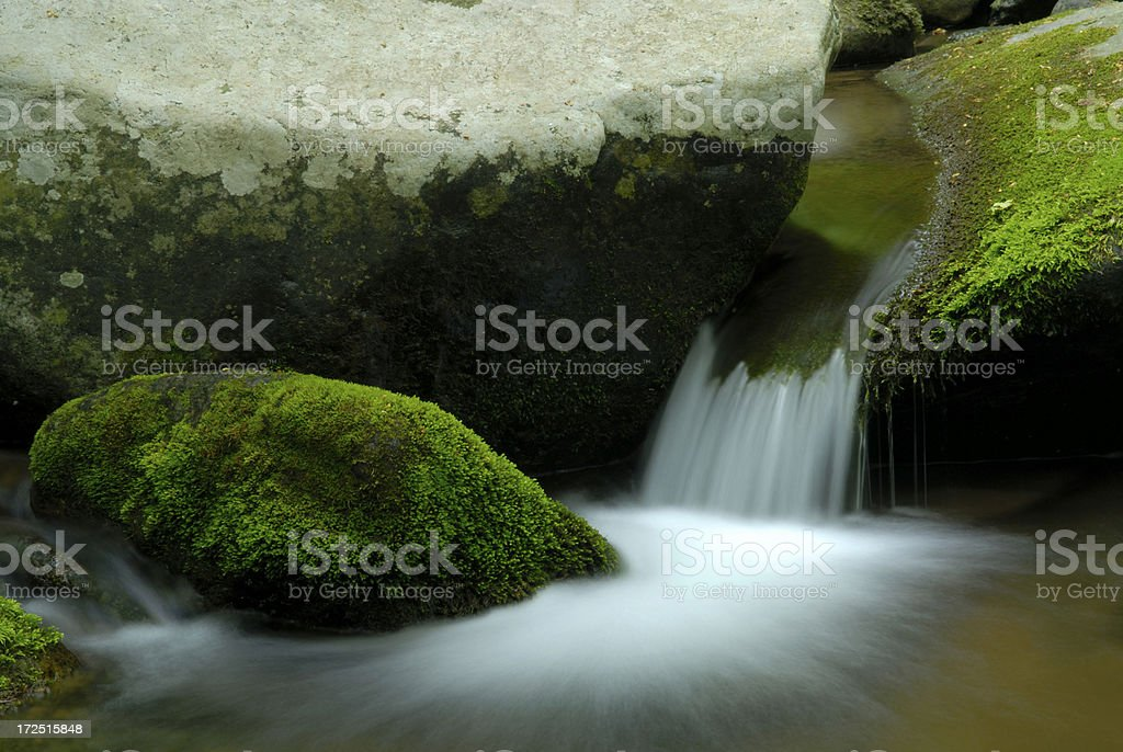 Running Water and Rocks royalty-free stock photo