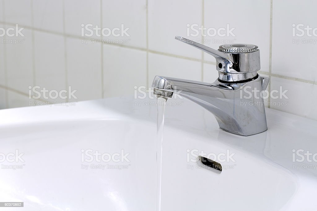 Running Water in the Bathroom royalty-free stock photo