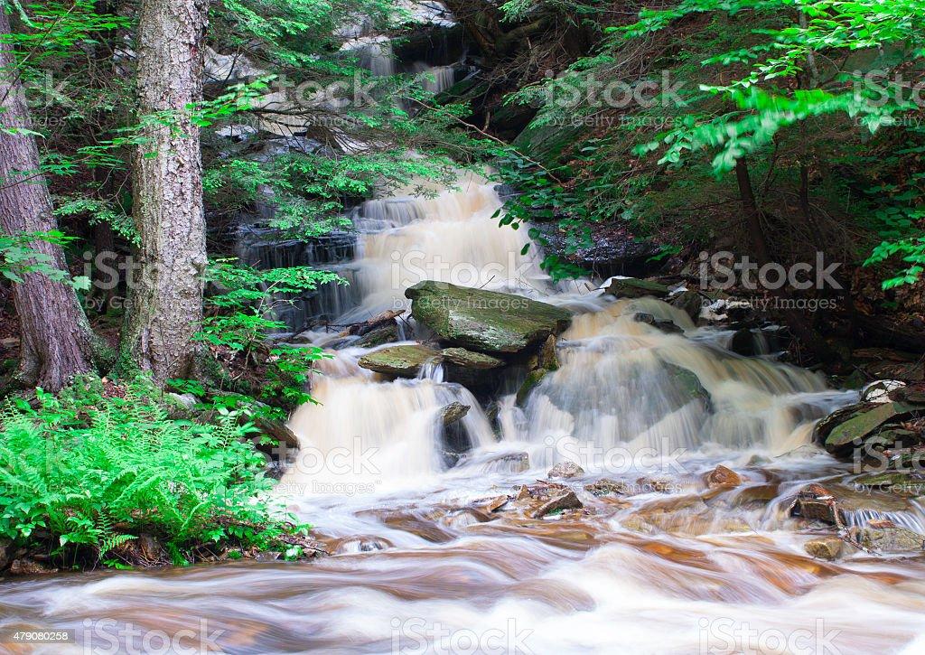 Running Water Over Rocks stock photo