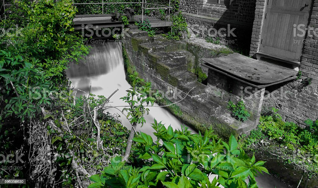 Running water with colour band royalty-free stock photo
