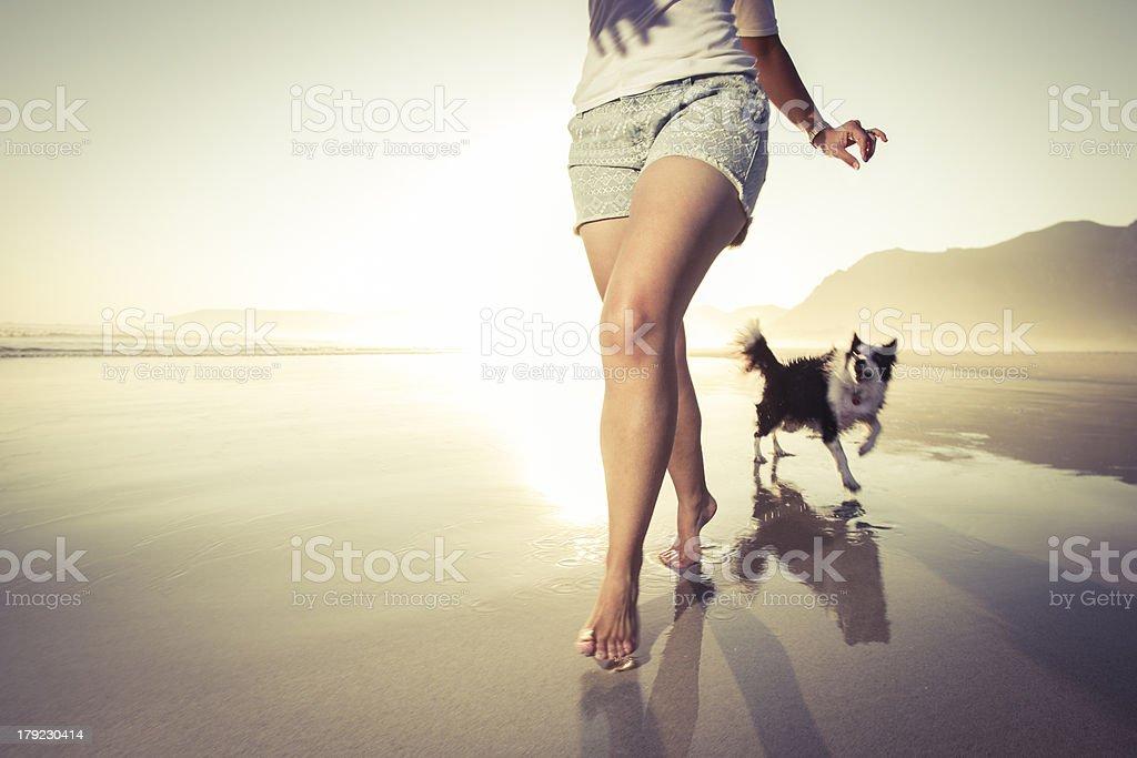 Corriendo con mi mascota - Foto de stock de Perro libre de derechos