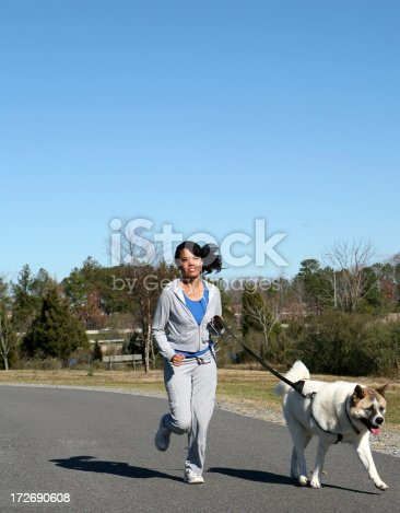istock Running with the Dog 172690608