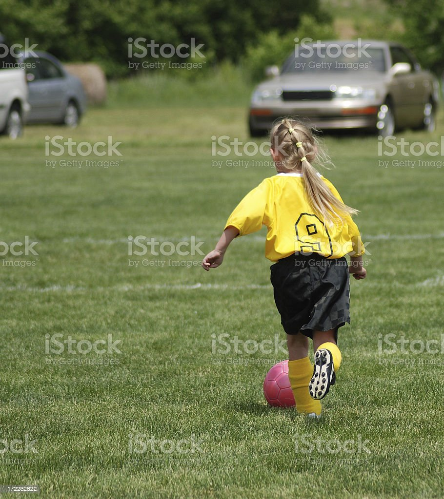 Running with the Soccer Ball stock photo