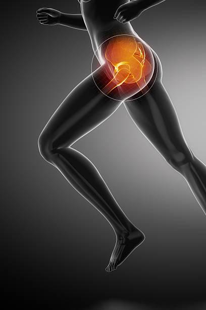 Running femme de l'anatomie de la hanche - Photo