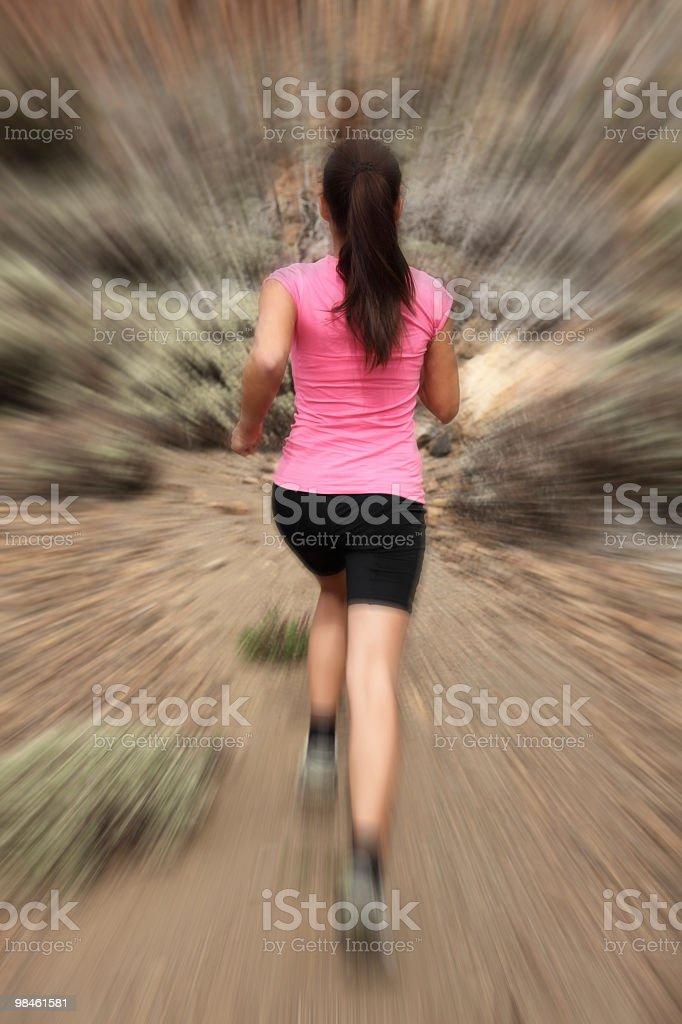 Running-여자 runner in motion royalty-free 스톡 사진