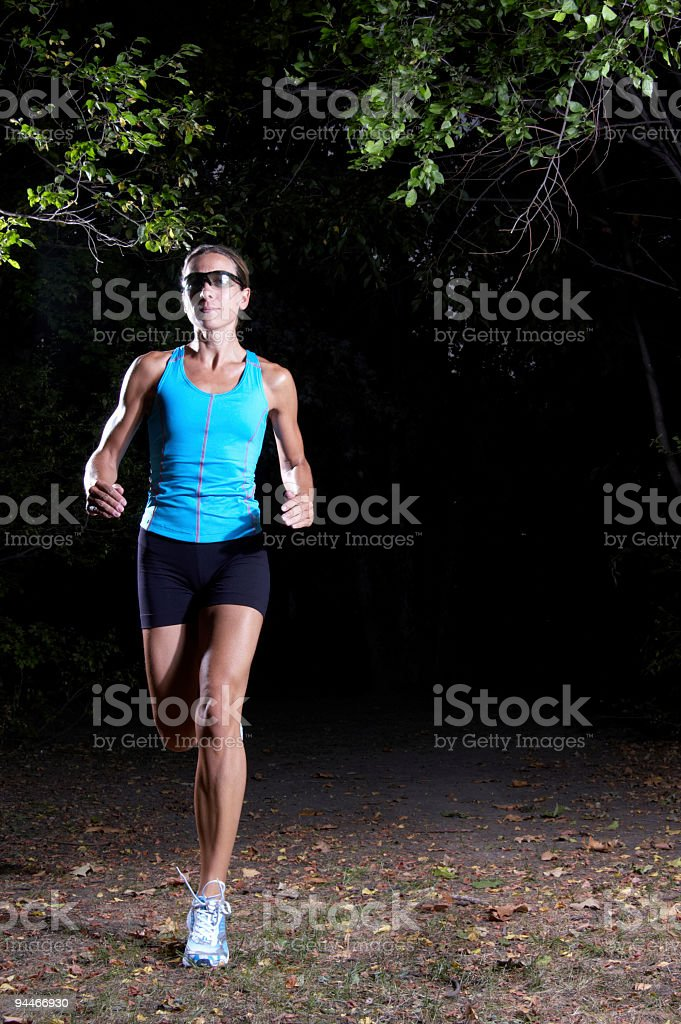 running woman with place for text royalty-free stock photo