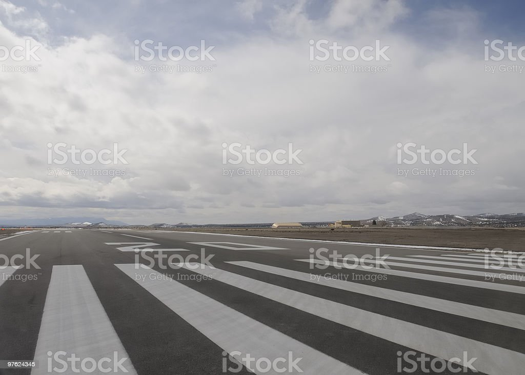 Runway 20 at Santa Fe Airport (SAF) royalty-free stock photo