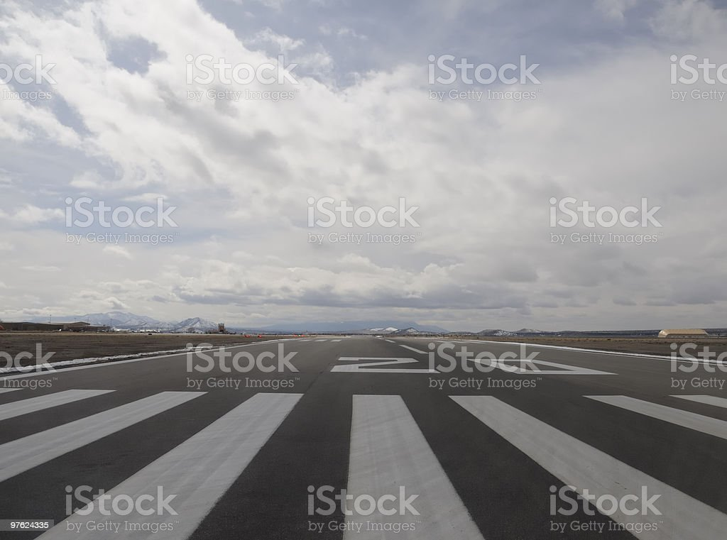 Runway 20 Santa Fe royalty-free stock photo