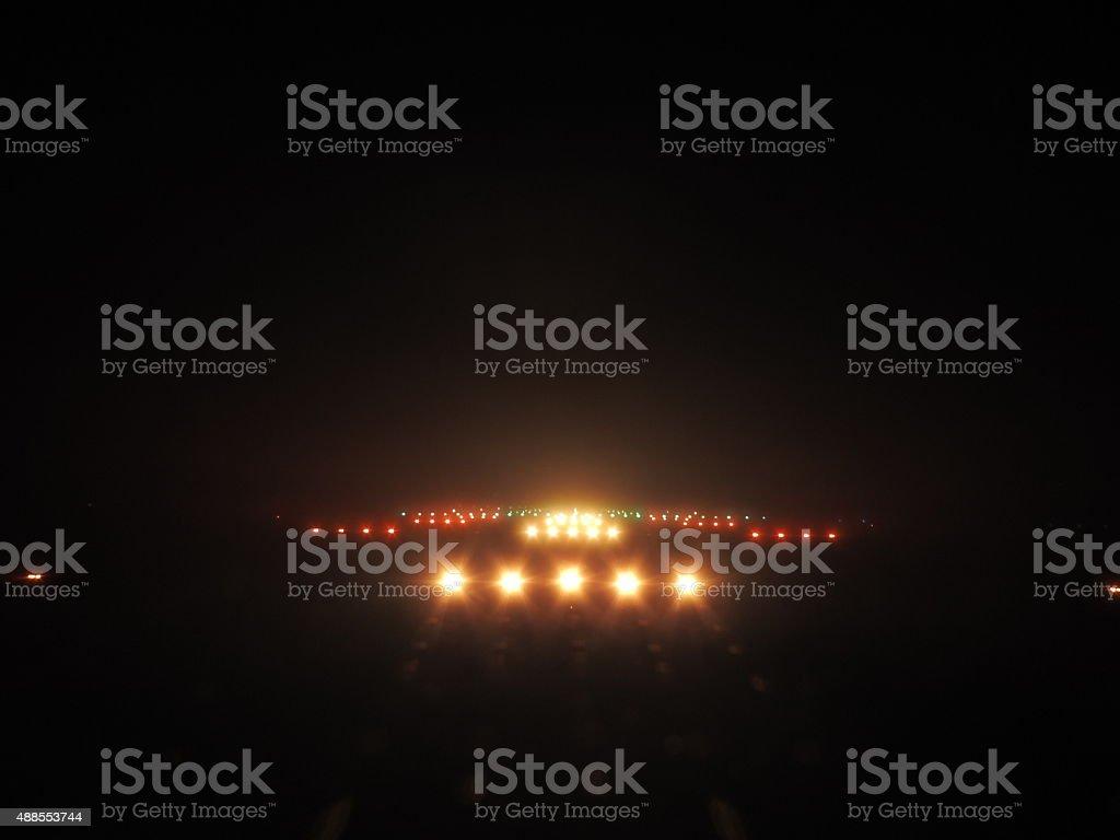 Passerella luci di notte - foto stock