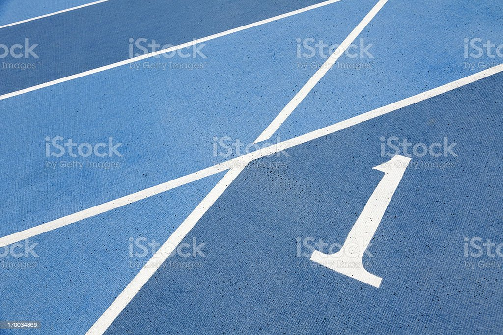 Runway number one stock photo