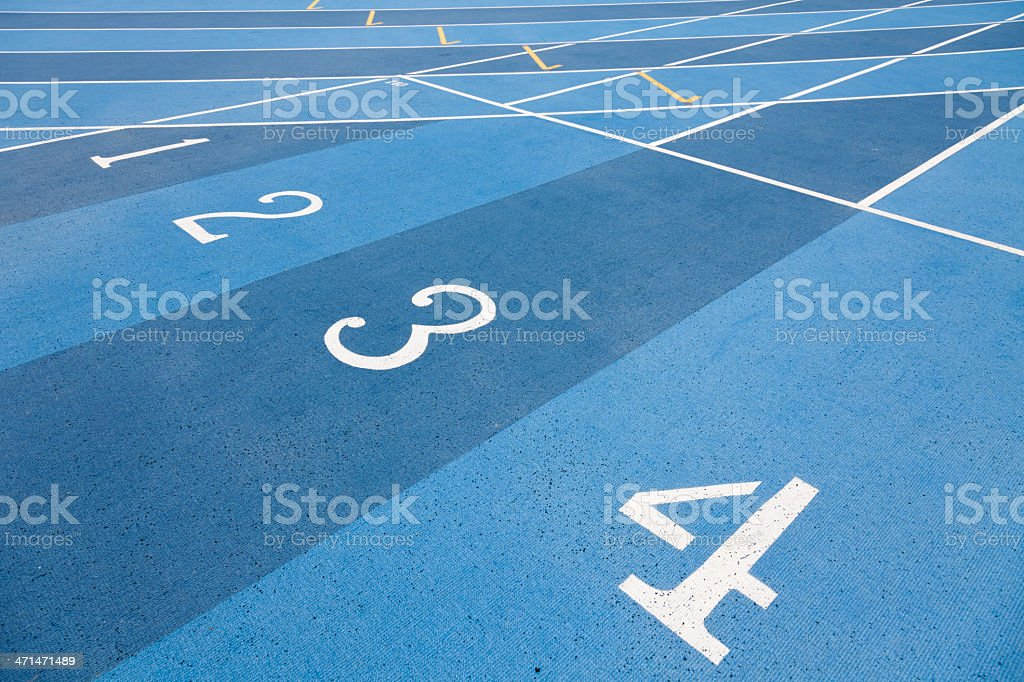 Runway numbers track royalty-free stock photo