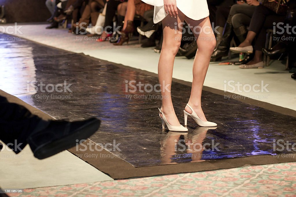 runway posing stock photo