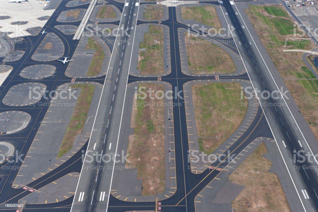 runways aerail view stock photo