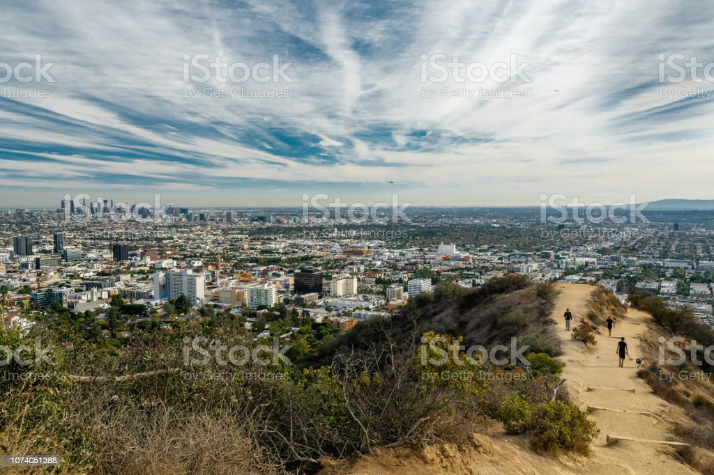 Runyon Canyon Park, Los Angeles, California royalty-free stock photo