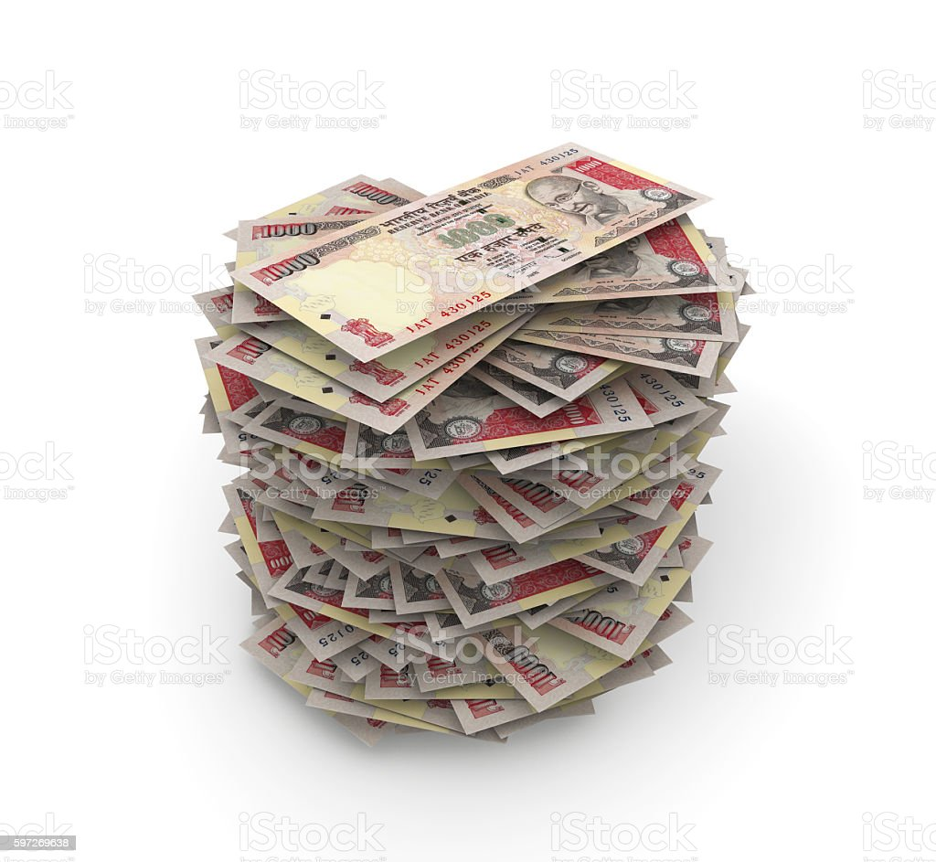 Rupees Stack royalty-free stock photo