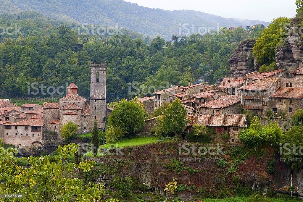 Rupit, Catalonia, Spain royalty-free stock photo