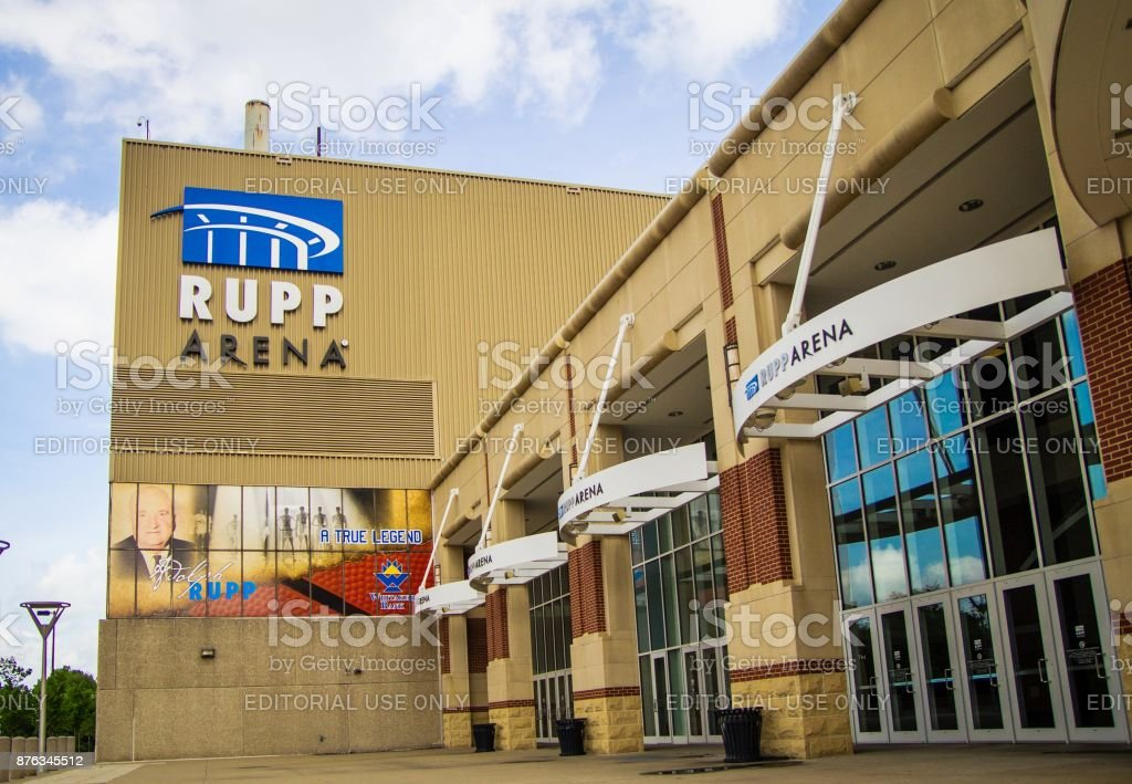 Rupp Arena In Downtown Lexington Kentucky stock photo