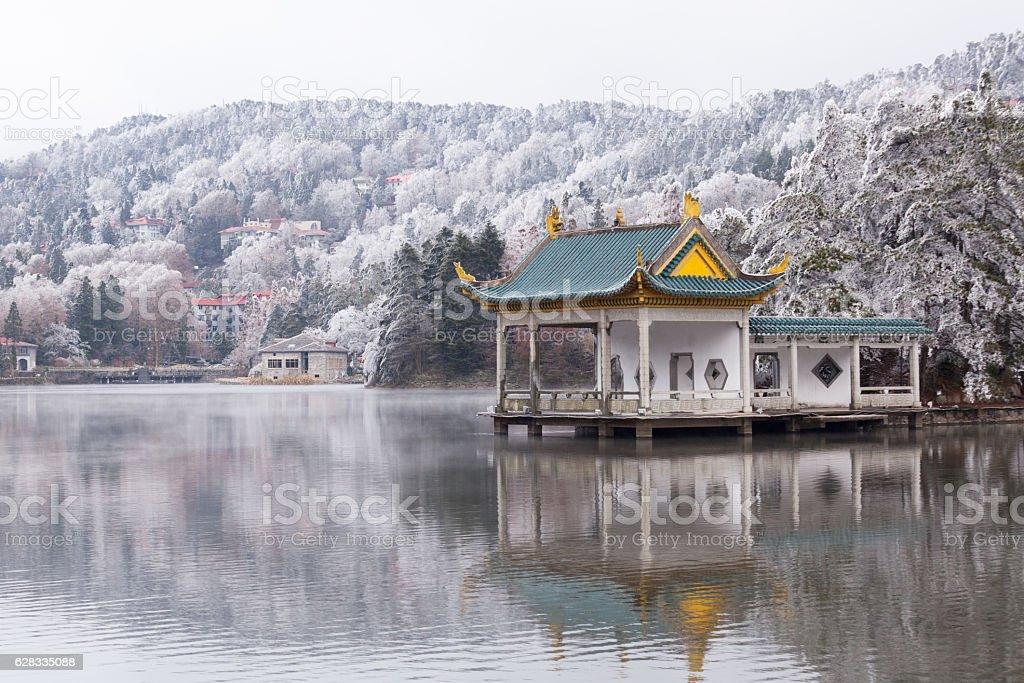 Ruqin lake stock photo