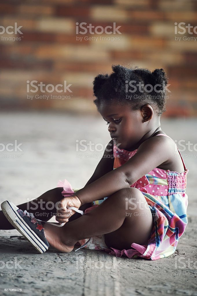Rural african child stock photo