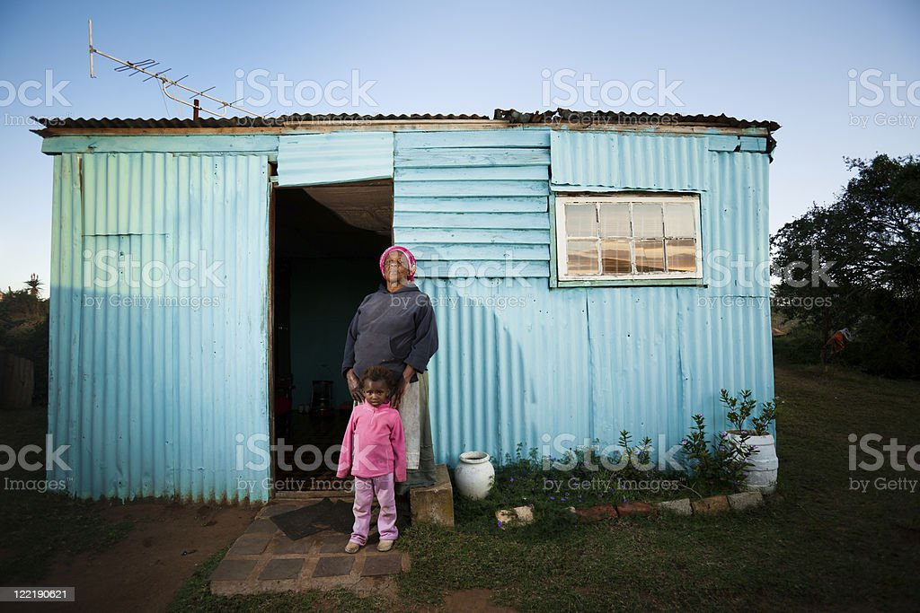 Rural African Mother and Child stock photo