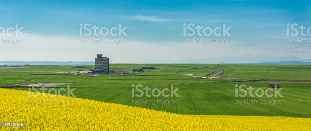 Rural Airport stock photo