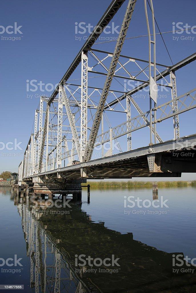 Rural American Bridge stock photo
