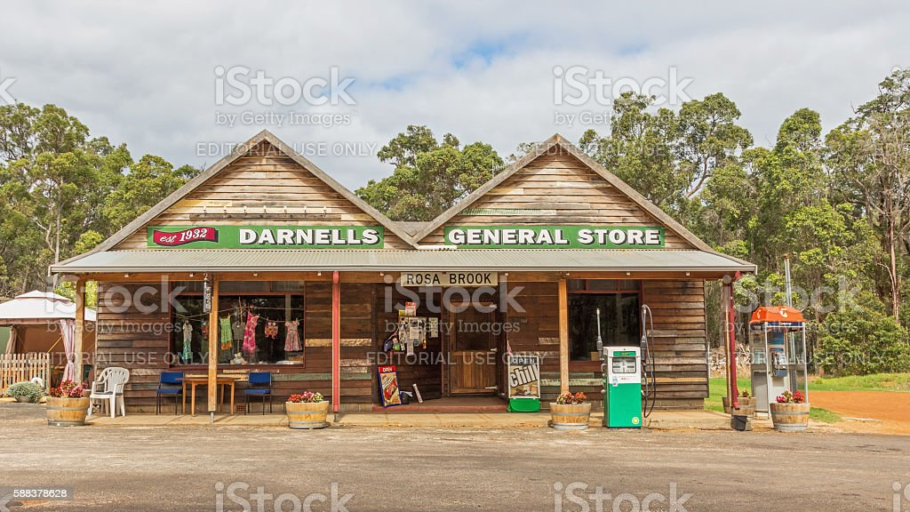 Rural Australian General Store stock photo
